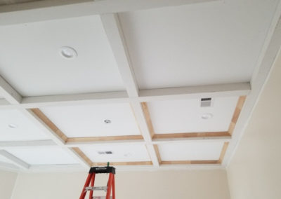 coffered ceiling carpentry top notch memphis